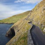 Coast road at Slea Head, Dingle Peninsula, County Kerry, Ireland.